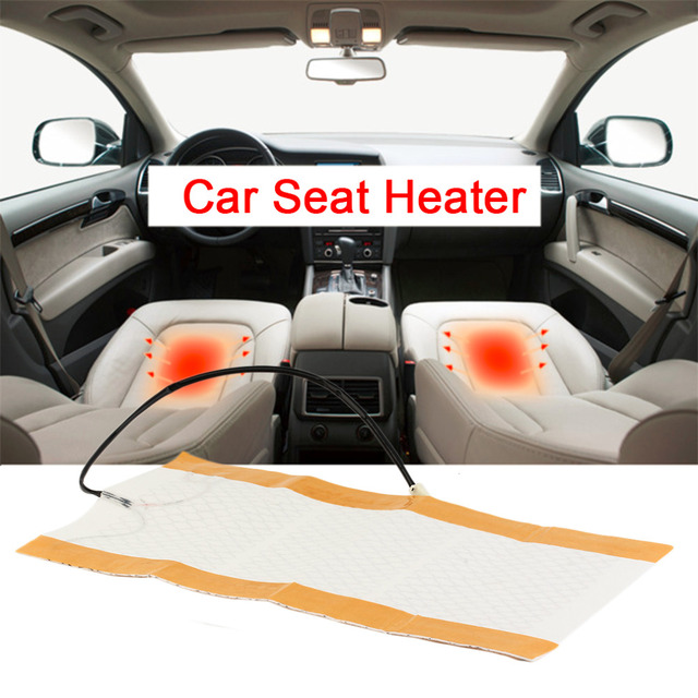 2pcs 12V 25W Car Seat Heater Universal Round Switch Carbon Fiber Heated Pads Seat Warmer Car Seat Heat Cushion Hot Selling