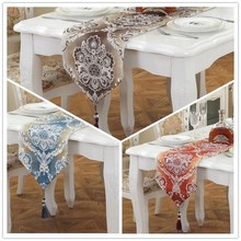 Classical European Style Flower Pattern Table Runner. Long Decorative  Tablecloths. Jacquard
