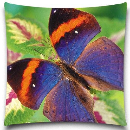 ᗕКрасочные бабочки Животные насекомое завод наволочка ...