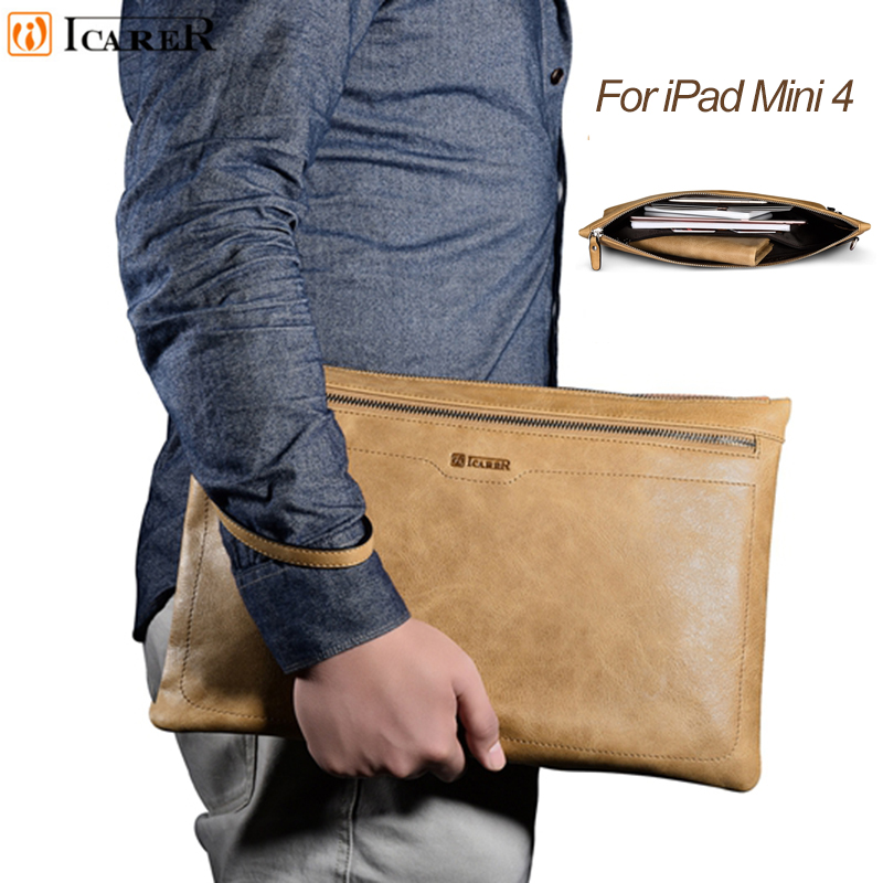 Fashion Tablet Sleeve Pouch Case for Ipad Mini Cover Real Leather Laptop Zipper Sleeve Small Size for Ipad Mini 4 3 2 7.9 Bag print batman laptop sleeve 7 9 tablet case 7 soft shockproof tablet cover notebook bag for ipad mini 4 case tb 23156