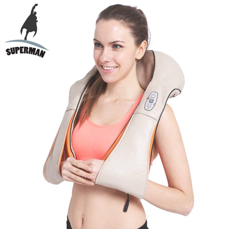 Superman elektrische shiatsu massager neck massage gerät elektrische zurück schulter gürtel massagen roller maschine