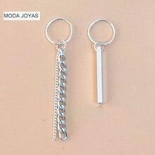 Фотография 1pair Fashion Jewelry Korean Bangtan Boys Album V DNA Stud Earring For Women Men 925 silver Brincos Geometric BTS Earring