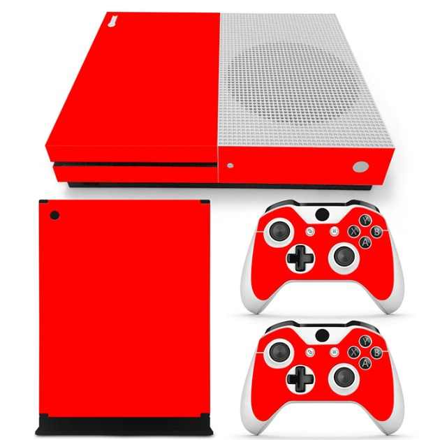 Mixed color pattern sample order accepted cover full body for XBOX One S console and controllers skin sticker