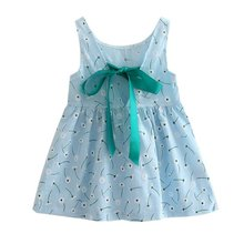 Girl Summer font b Dress b font Kids Teens Sleeves Printing Pattern Cotton font b Dress