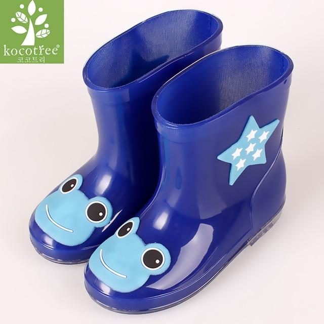 Kocotree Summer Rubber Boots Children Boots For Girls Boys Kids Rainboots Cartoon Animals Antiskid Rain Boot Waterproof Shoes