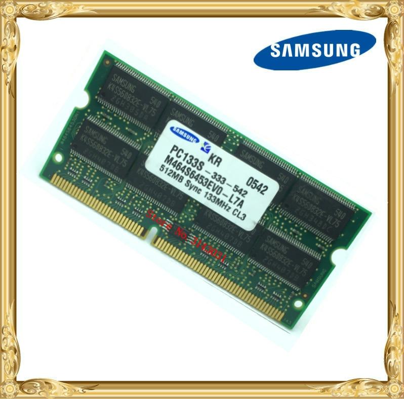 Samsung SDRAM 512MB PC133 Notebook Memory SD 133MHz Laptop 144pin 512 Printer Industrial Machinery RAM