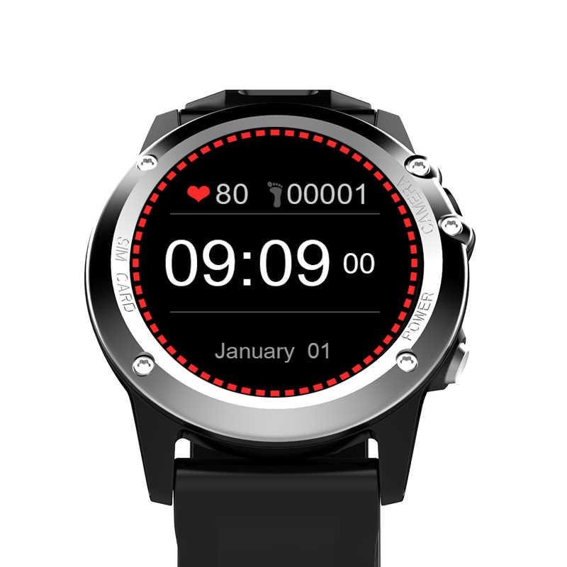 ぬるぬる H1 アンドロイド 4.4 Os のスマート腕時計 IP68 防水 1.39 インチ MTK6572 スマートウォッチサポート 3 グラム SIM GSM 、 WCDMA 無線 LAN GPS android