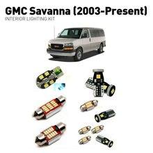 Led interior lights For GMC savanna 2003+  12pc Lights Cars lighting kit automotive bulbs Canbus
