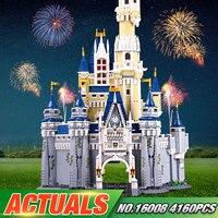 LEPIN 16008 Creator Cinderella Princess Castle City 4080pcs Model Building Minifigures Block Kid Toys Gift
