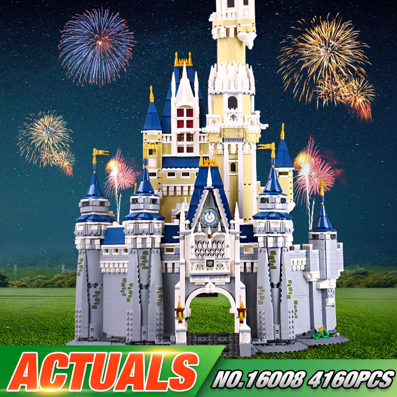 In stock LEPIN 16008 The 71040 Cinderella Princess Castle City Set Model Building Block Brick Educational Kid Toys For Gifts lepin 16008 creator cinderella princess castle city 4080pcs model building block kid toy gift compatible 71040