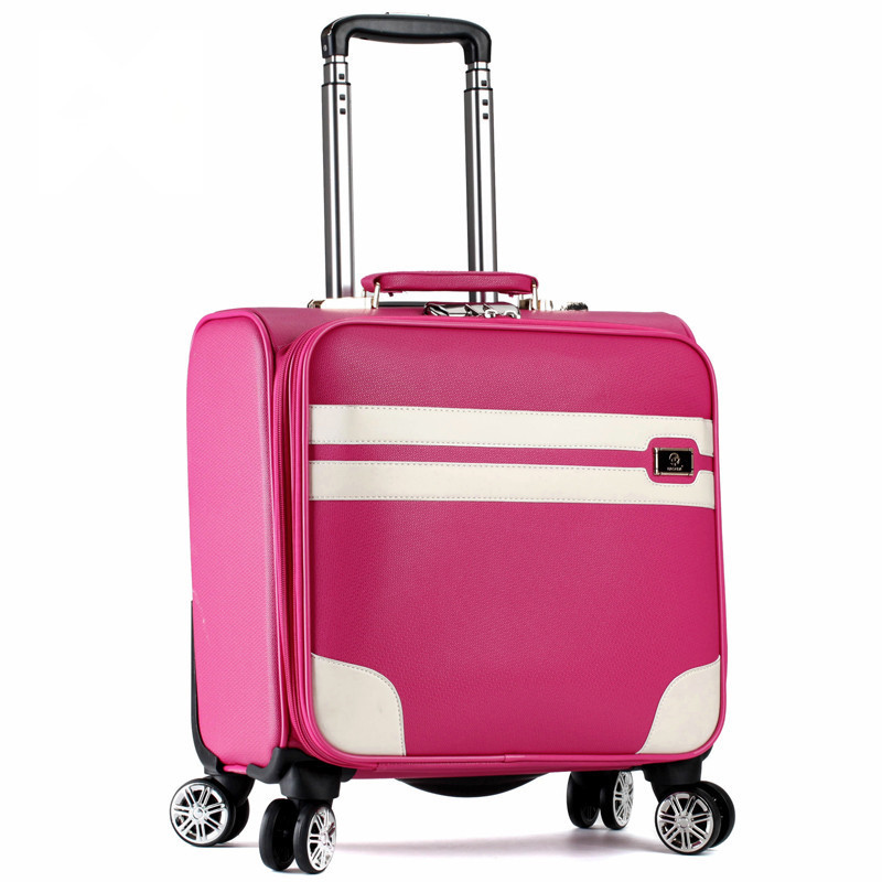 Ms new boarding box 16 inch universal wheel pull rod box small travel luggage color suitcase password box 121