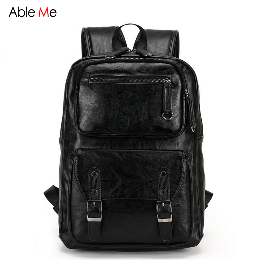 2017 New England Style Laptop Backpack Male School Bags High Quality Soft Leather Backpack Men for Teenagers Leisure Bag 2016 new tigernu brand high quality men s backpack laptop backpack mochila backpack school bags for teenagers bookbag