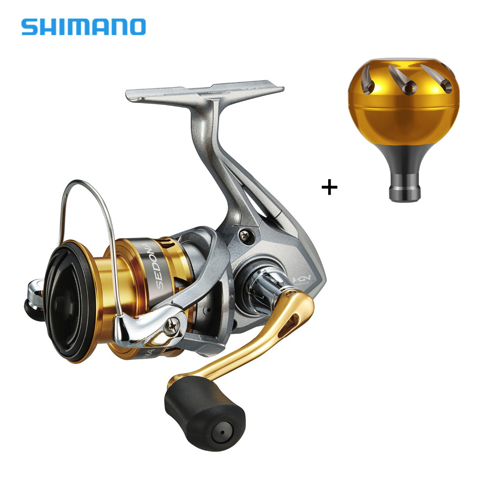 Shimano SEDONA FI Spinning Reel with Extra Handle Knob 5.0:1/6.2:1 Gear Ratio 3+1BB Hagane Gear G Free Body Fishing Reel-in Fishing Reels from Sports & Entertainment    1