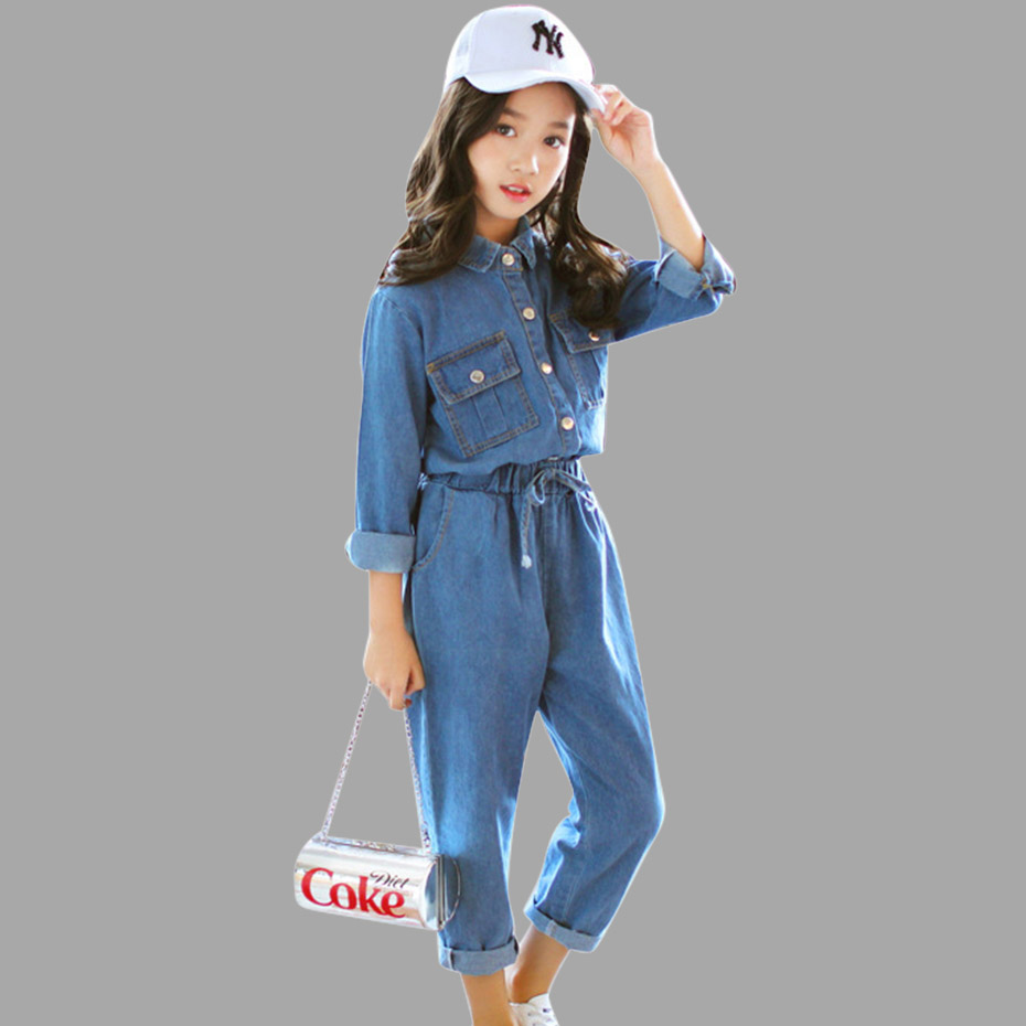 56515b5717c5 Detail Feedback Questions about Abesay Denim Children s Clothing Long Sleeve  Shirt+Pants 2 Pcs Casual Girls Clothes Set Winter Teen Girls Clothing 6 8  12 ...