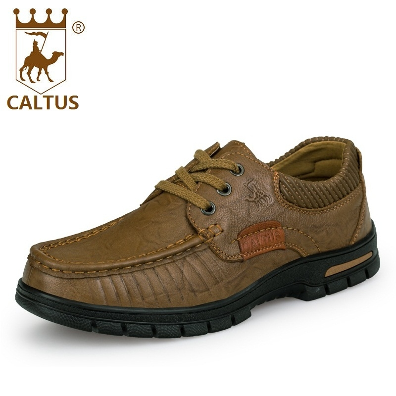 CALTUS Male Casual Shoes Soft Footwear Classic Genuine Leather Men Platform Flats Good Quality Working Shoes Size 38-44 AA20537 casual shoes men breathable new fashion men dress shoes good quality working shoes size 38 44 aa30064