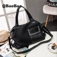 Large Size 40cm Women Bag Soft Washed Leather Bolsa Feminina Tote Bag Black Sac A Main Designer Handbags High Quality