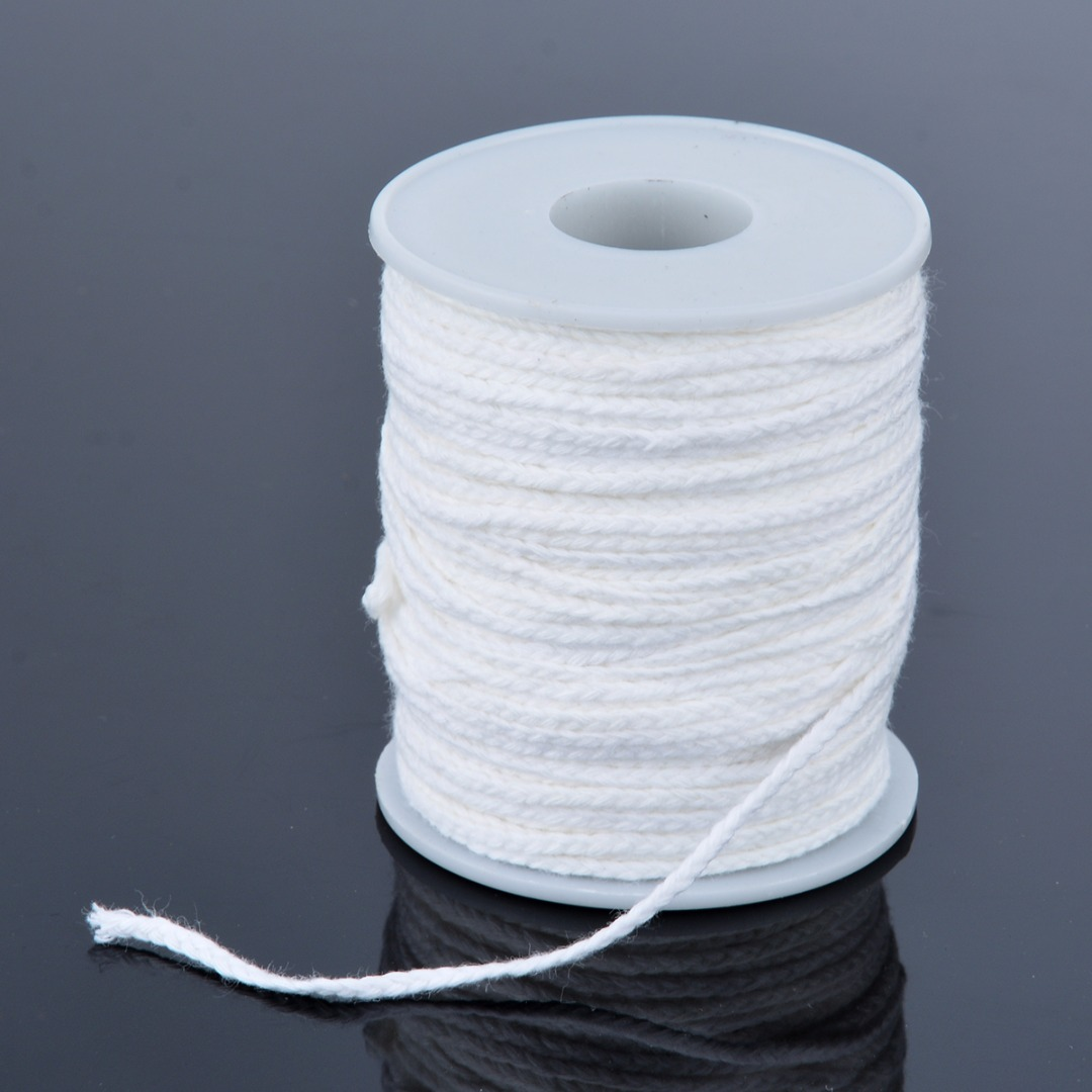 US $1 89 41% OFF|New Spool of Cotton Square Braid Candle Wicks Wick Core  61m x 2 5mm For Candle Making Supplies-in Candle Accessories from Home &