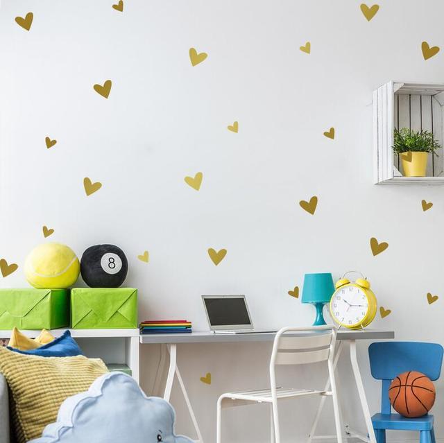 25pcs lot love heart shaped wall sticker pvc wallpaper creative love