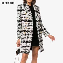 New Autumn Winter Fashion Women Wool Coats High Quality Double Breasted Ladies Female Outerwear