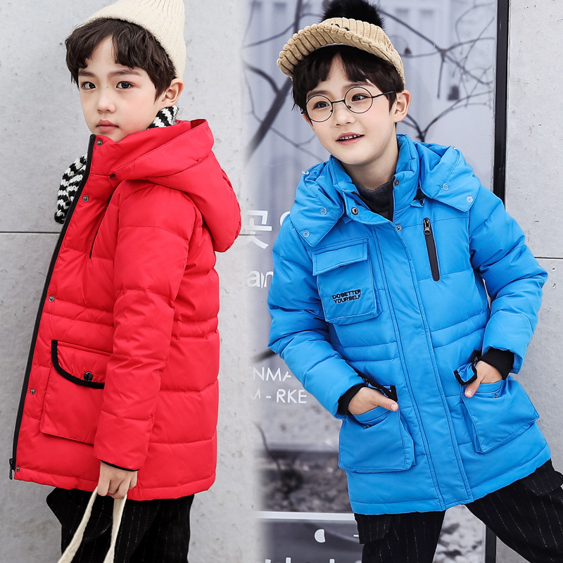 d5f2b4fd2 Children Boys Parka Clothes 2018 Kids Girls Winter Jacket with Fur ...