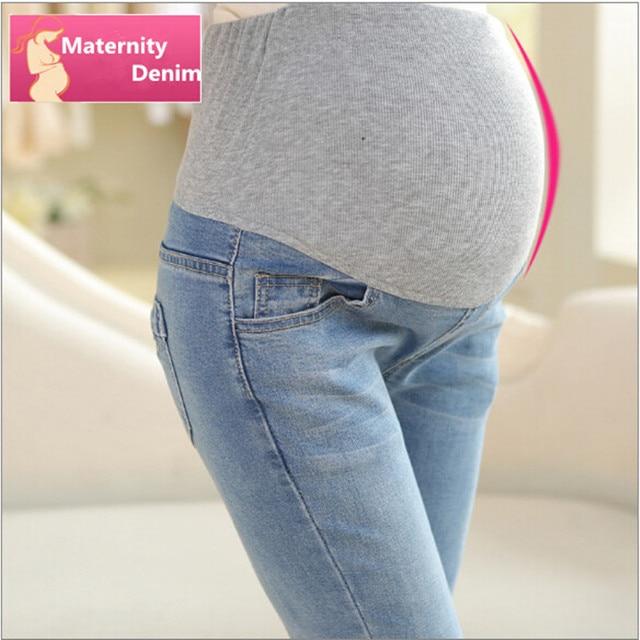 Maternity Jeans For Pregnant Woman New 2016 Maternity Jeans Pants Autumn Elastic Waist Jeans Pregnancy Clothes Plus Size M-XXXL