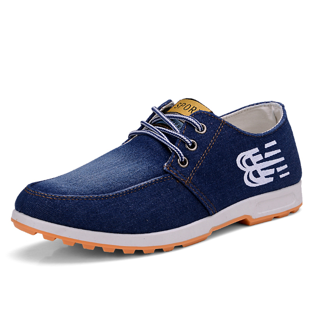 Denim Toile Chaussures Hommes Casual Sport Chaussures Faible Pour Aider Chaussures En Tissu Coréen Dentelle Chaussures Hommes Chauss m6Vi9rR