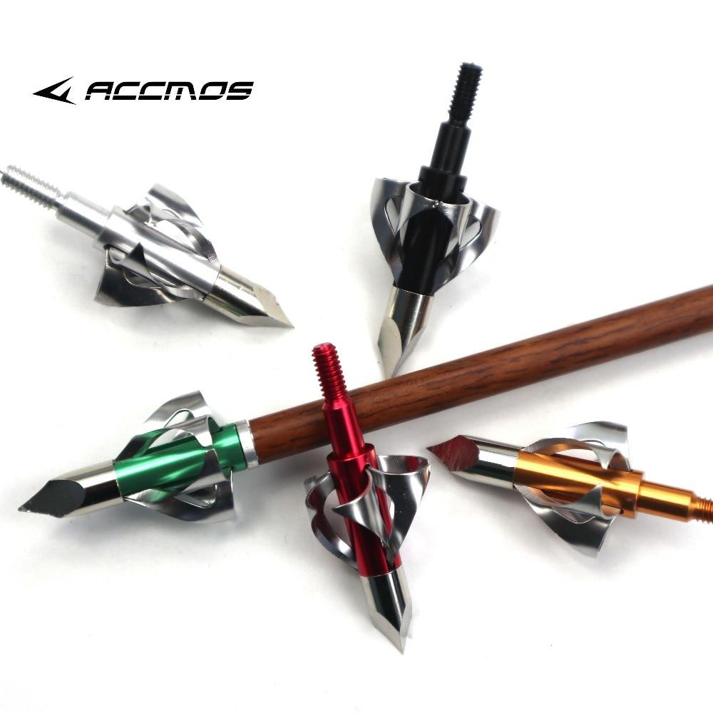 100grain 8colors 6ps Hunting Stingers Arrow Head Recurve Bow Hunting Arrowhead Glass Carbon Steel Aluminum Arrow Shaft Universal