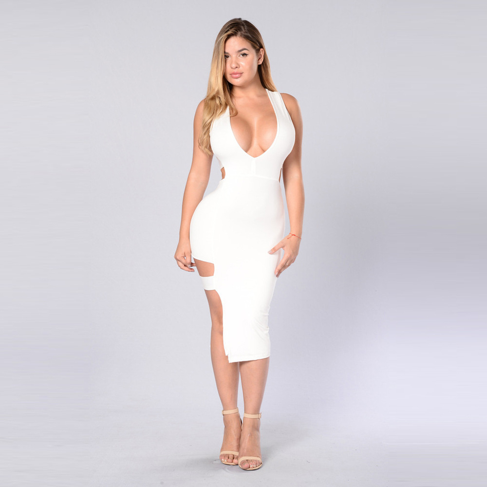 2017 spring sexy white bodycon kim kardashian big ass tank dress for