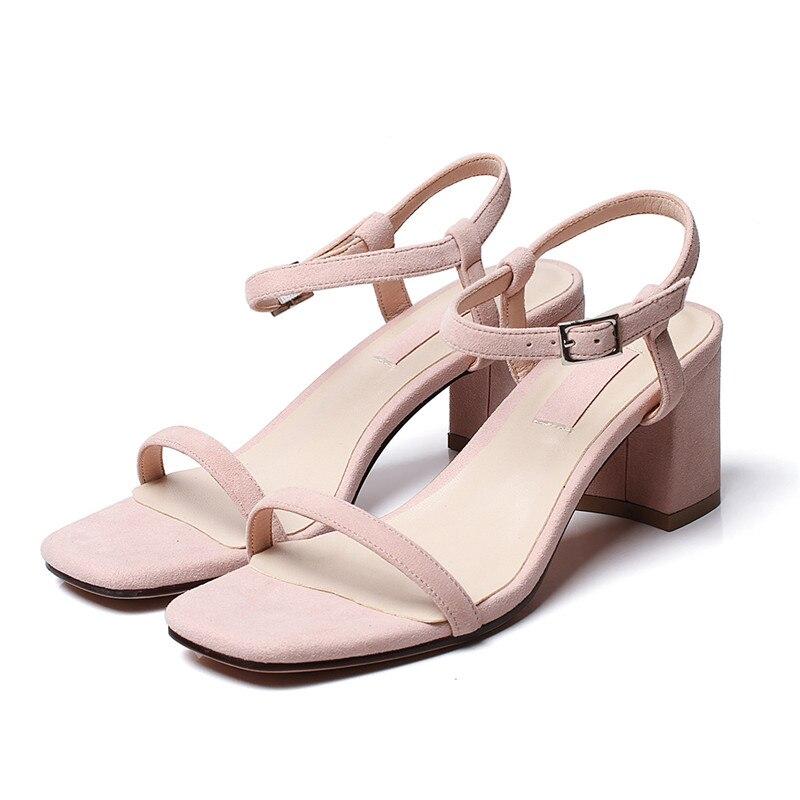 blue 34 Tenue Taille pink 2018 39 De Fête Why54 Rond Beige Boucle Frais Femmes Sandales black Enmayer Courroie D'été Grande Chaussures Talons Bout FF71qa