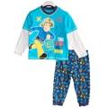 Дети Полный Рукав Pijamas Мальчики пожарный сэм Пижамы Пижамы Дети Пижамы Детская Одежда Устанавливает Топ + Брюки 2 шт. Pyjama