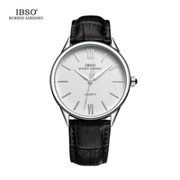 IBSO Mens Watches Top Brand Luxury Classic Watch Men 2017 Leather Strap Fashion Clock Men 3ATM