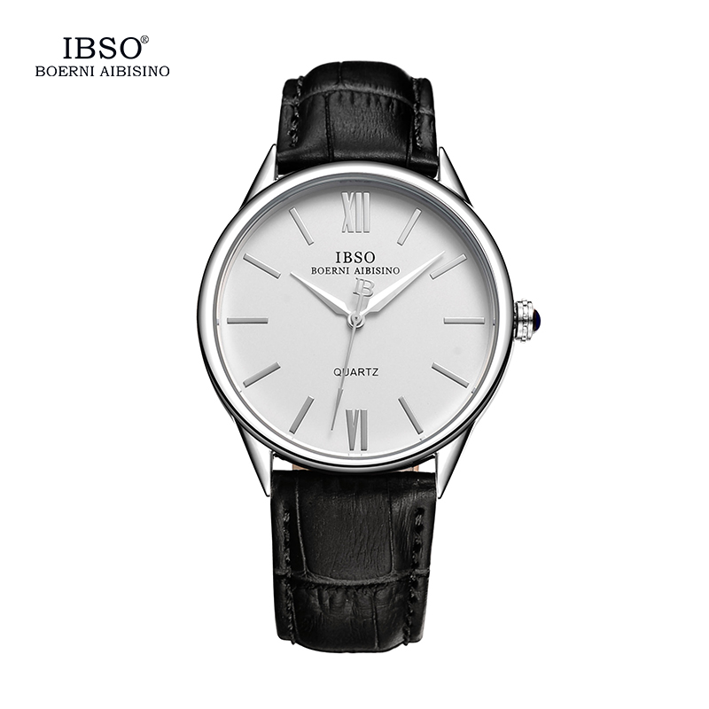 IBSO Mens Watches Top Brand Luxury Classic Watch Men 2017 Leather Strap Fashion Clock Men 3ATM Waterproof Relogio Masculino classic simple star women watch men top famous luxury brand quartz watch leather student watches for loves relogio feminino