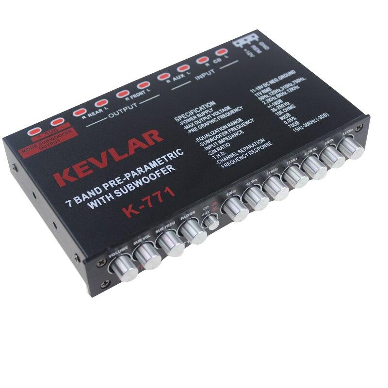EQ égaliseur voiture tuning board amplificateur voiture stéréo modifié traitement audio 7 segments Auto accessoires voiture égaliseur