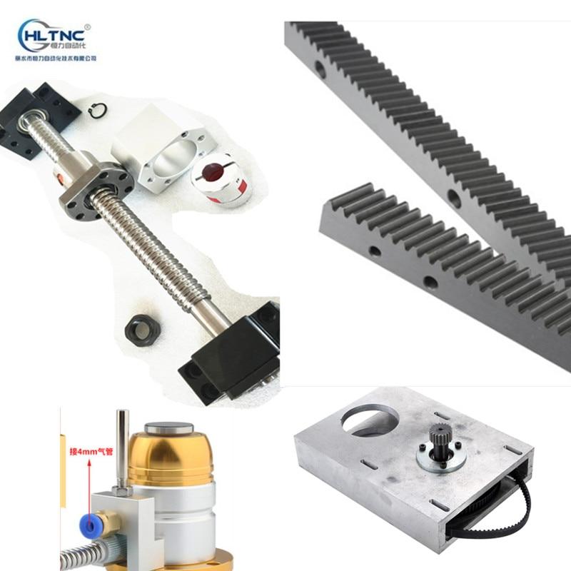 ballscrew SFU1605 600mm 1 25M spur straight gear box 1 25mod harden racks 670mm Z axis