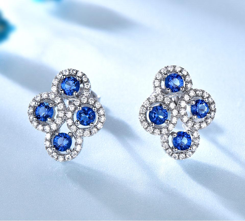 sapphire stud earrings for women fin jewelry (2)
