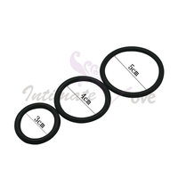 ( 3 Pcs/Lot ) Black 3 Time Delay Penis Rings Cock Rings Set , Male Adult Product