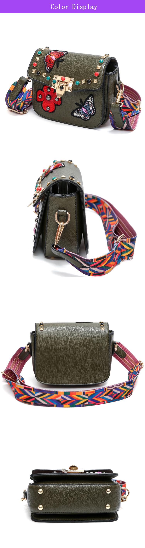 SAJOSE Women Small Hand Bag Flowers Designer Leather Shoulder Woman's Fashion Messenger Lady Crossbody Luxury Handbag Women Bags 5