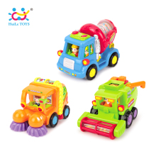 (Set of 3) Wholesale Baby Toys Push & Go Friction Powered Car Toy Trucks Children Pretend Play Toys Great Gift HUILE TOYS 386ABC