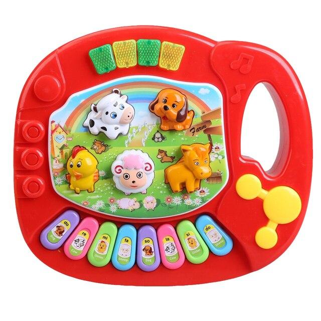 طفل أطفال الموسيقية التعليمية البيانو الحيوان مزرعة التنموية لعبة الموسيقى التعليمية للأطفال