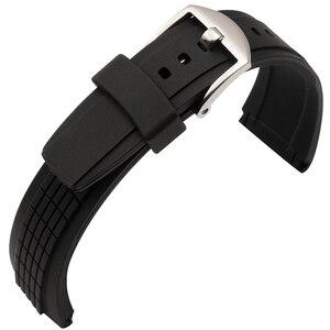Image 5 - MERJUST 26mm gumowy silikonowy pasek do zegarków czarny zegarek do bransoletki SEIKO 7T62 OHTO z klamrą