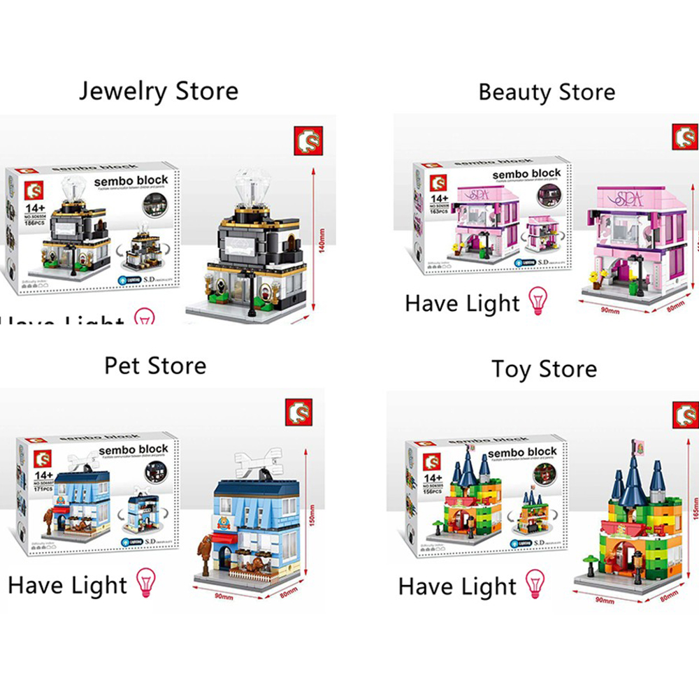 4PCS/Set Mini Street View Building Block City Toys Jewelry store Toyshop Beauty shop Pet shop SD6504 05 06 07 отпариватель kromax endever odyssey q 509