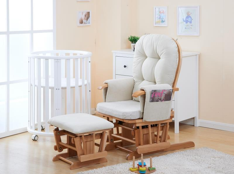 Nursery Rockers and Gliders Ottoman Recliner Chairs With Padded Cushion Living Room Furniture Reclining Armchair Ottoman Chair winders rockers