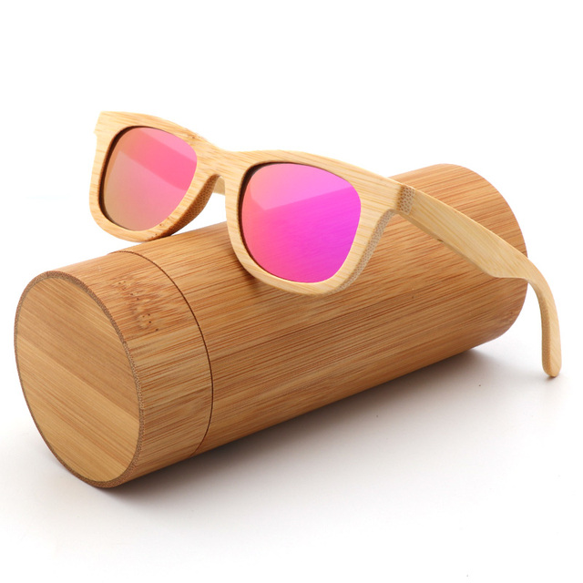 Fashion Kids Polarized Sunglasses For Boy and Girl  Handmade Wood Bamboo sun Glasses UV400