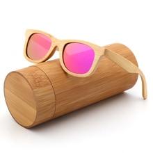 Gafas de sol polarizadas a la moda para niños y niñas, gafas de sol de madera de bambú hechas a mano UV400