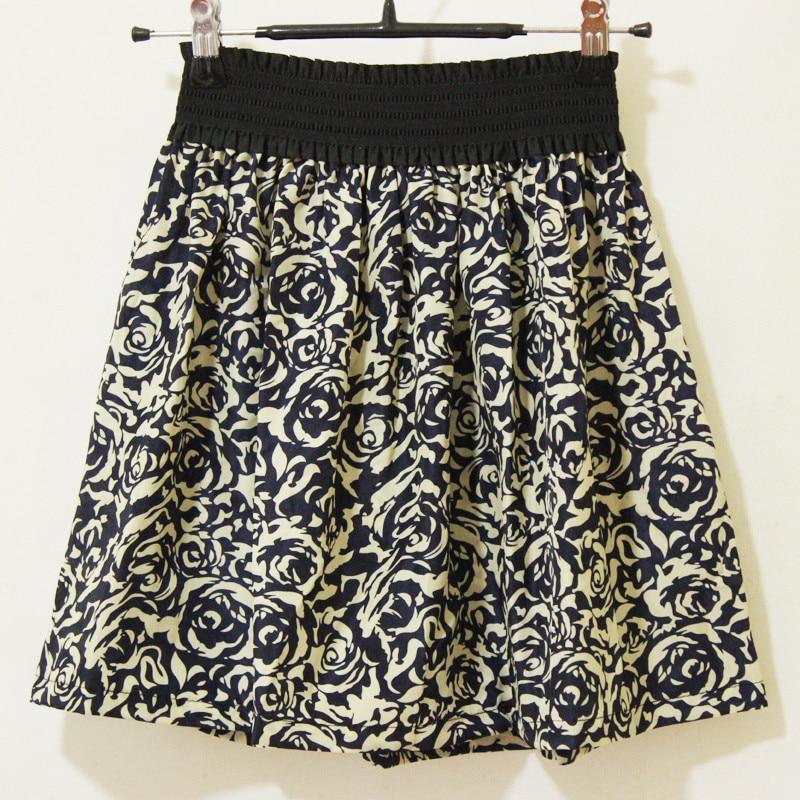 Fashion Pleated Retro High Waist Summer floral plaid Short Mini Skirts 1