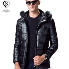 Brand Clothing 2016 Winter Duck Down Jacket Men Luxury Fur Collar Hooded Down Coats Men's Thickening Warm Parka Man