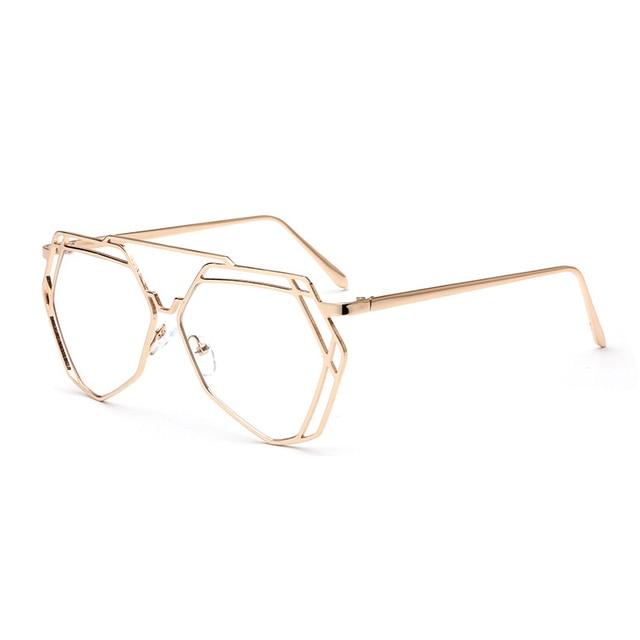 78ac8d3827f8b Moda Feminina No Grau de Miopia Quadro Simples Quadrado Óculos Óptica Óculos  Quadros Com Óculos de