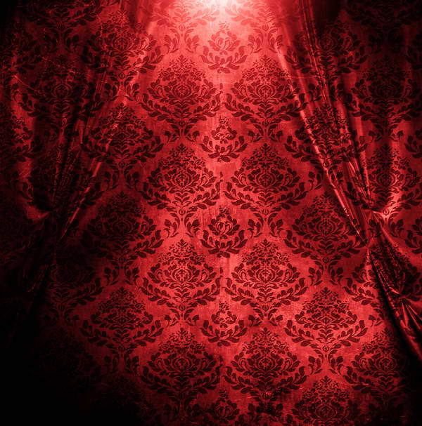 red Flower Vintage Damask Curtains Background Vinyl cloth High quality Computer print wall photo backdrop image