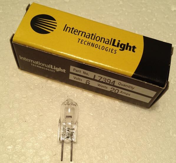 ILT L7394 6V 20W G4 2000H lamp GLAMOUR MD1600 MD2000 Biochemical analyzer 6V20W halogen bulb GILWAY L7394 K2-in Halogen Bulbs from Lights & Lighting    1