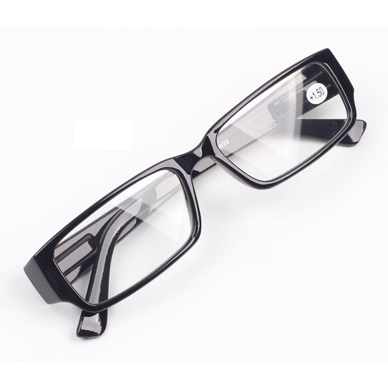 Kvinner Les briller for menn Visjonpoeng Klar Farsightedness Eyeglasses With Spring Hinge +100 +150 +200 +250 +300 +350 +400